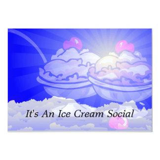 Horizonte del helado invitación 12,7 x 17,8 cm