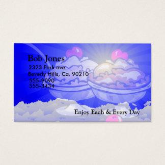 Horizonte del helado tarjeta de negocios