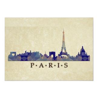 Horizonte del mosaico del polígono de París Comunicado Personalizado