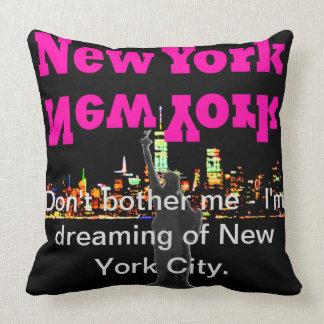 Horizonte Manhattan de Nueva York de la almohada