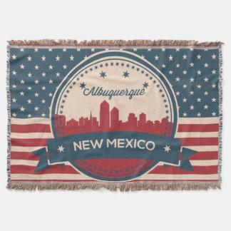 Horizonte retro de Alberquerque New México Manta