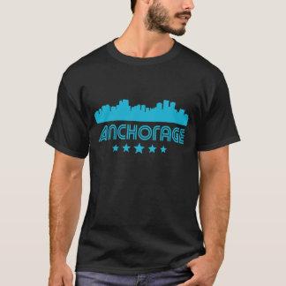 Horizonte retro de Anchorage Camiseta