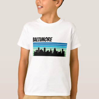 Horizonte retro de Baltimore Camiseta
