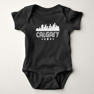 Horizonte retro de Calgary Body Para Bebé