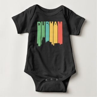 Horizonte retro de Durham Carolina del Norte del Body Para Bebé