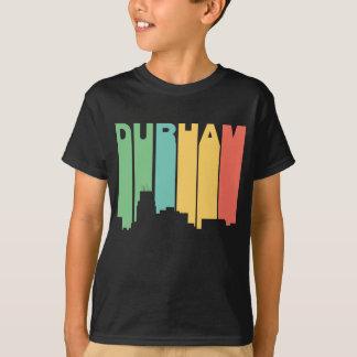 Horizonte retro de Durham Carolina del Norte del Camiseta