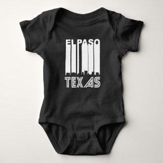 Horizonte retro de El Paso Body Para Bebé