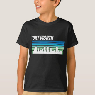 Horizonte retro de Fort Worth Camiseta