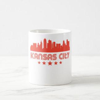 Horizonte retro de Kansas City Taza De Café