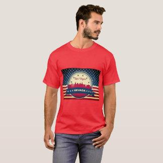 Horizonte retro de Las Vegas Nevada Camiseta