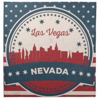 Horizonte retro de Las Vegas Servilleta De Tela