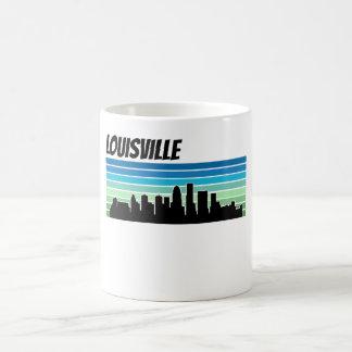 Horizonte retro de Louisville Taza De Café