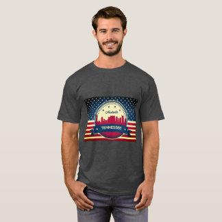 Horizonte retro de Nashville Tennessee Camiseta