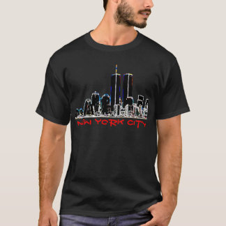 Horizonte retro de New York City de los años 80 Camiseta