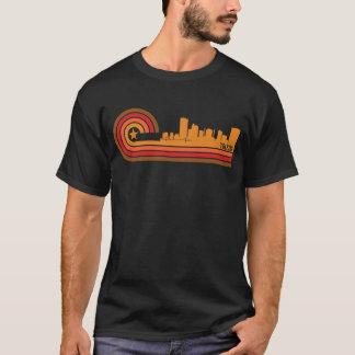 Horizonte retro de Toledo Ohio del estilo Camiseta