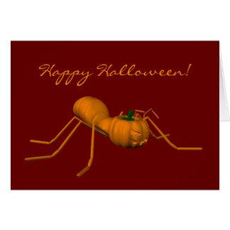 Hormiga divertida de Halloween Tarjeta De Felicitación