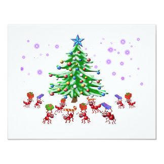 Hormiga-ticipation del navidad invitación 10,8 x 13,9 cm