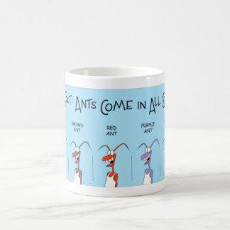 Hormigas de todos los colores taza de café