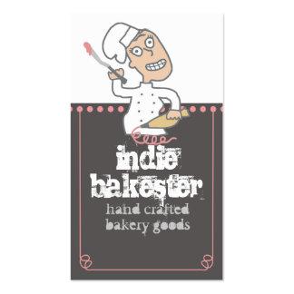 hornada cómica del chef de repostería del indie tarjetas de visita