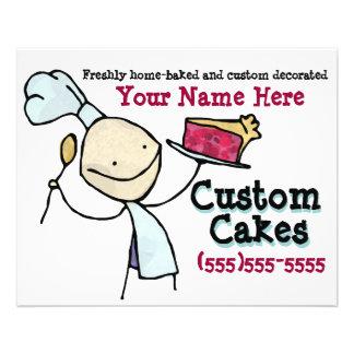 Hornada de encargo. Adornamiento de la torta. Avia Tarjeta Publicitaria
