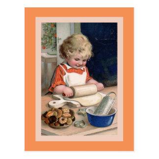 Hornada de la galleta en la tarjeta de Navidad