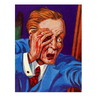 ¡Horror retro del kitsch del vintage mi ojo! ¡Mi Postal