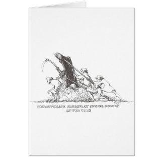 Horseplay de Rogelio Swezey Tarjeta De Felicitación