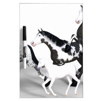 horses-1530858 pizarra blanca