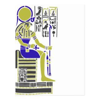 Horus el halcón Egyption Heiroglyph Postal