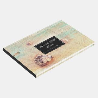 Hospitalidad del collage de Shell de la playa Libro De Visitas