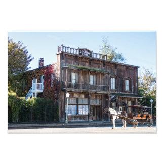 Hotel 1880 de la unión con transporte impresión fotográfica
