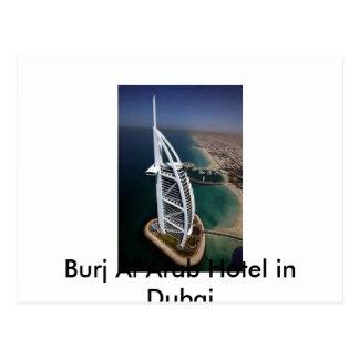 Hotel árabe del Al de Burj en Dubai Postal
