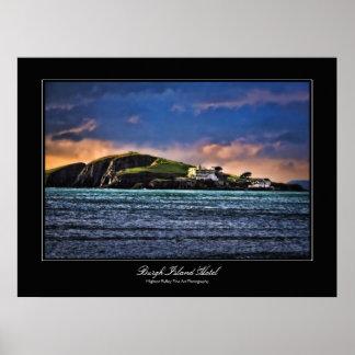 Hotel de la isla del municipio escocés poster