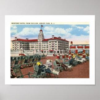 Hotel de Monterey, vintage de los años 20 del Póster