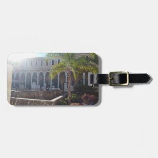 Hotel de Tenerife en etiqueta del equipaje de la