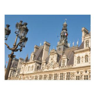 Hotel de Ville (ayuntamiento) en París, Francia Postal