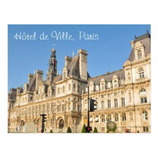 Hotel de Ville en París, Francia Postal