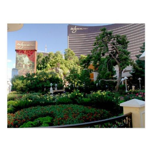 Hotel de wynn y jard n del casino postal zazzle for Jardin wynn