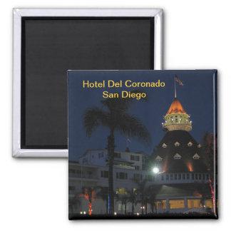Hotel Del Coronado San Diego California Imán Cuadrado