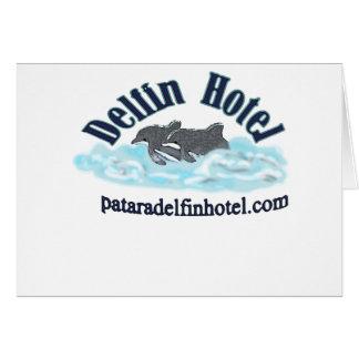 hotel del delfin tarjeta de felicitación
