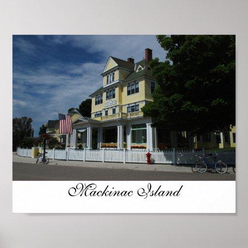 Hotel en la impresión de la isla de Mackinac Impresiones