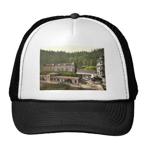 Hotel magnífico Pupp, Carlsbad, Bohemia, Austro-Hu Gorra