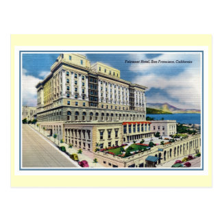 Hotel San Francisco CA de Fairmont del vintage Postal
