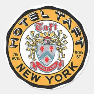 Hotel Taft de los pegatinas NYC NY del equipaje de