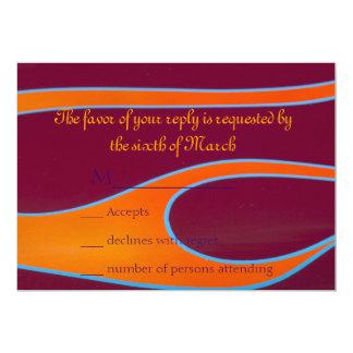 Hotrod anaranjado flamea RSVP Invitación 12,7 X 17,8 Cm