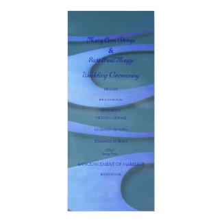 Hotrod azul flamea programa del boda invitación 10,1 x 23,5 cm