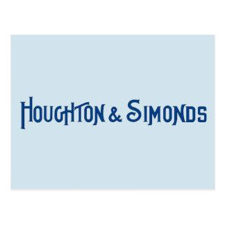 Houghton y postal de Simonds