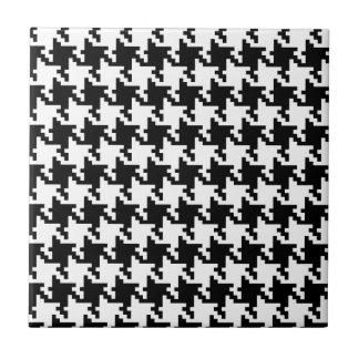 Houndstooth De varios colores-de-Poule Pattern Mod Azulejo Cuadrado Pequeño