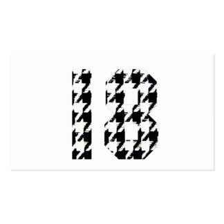 Houndstooth dieciocho plantillas de tarjeta de negocio