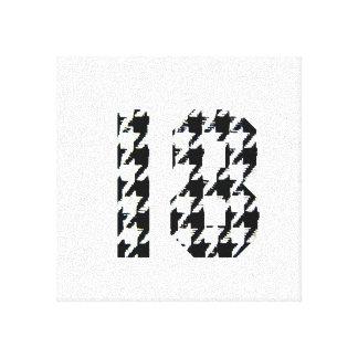 Houndstooth número 18 impresiones en lona